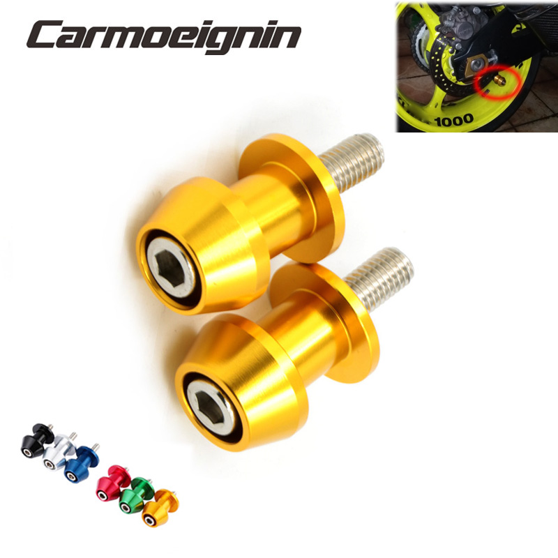 2pcs 8mm Motorbike CNC Swingarm Swing Arm Spools Sliders For Suzuki GSX-R GSXR 600 750 1000 K1 K2 K3 K4 K5 K6 K7 K8 K9 K10 K11(China)