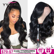 Yyong Hair 360 Lace Frontal Wig Pre Plucked With Baby Hair Remy 360 Lace Frontal Human Hair Wig Peruvian Body Wave Lace Wigs(China)
