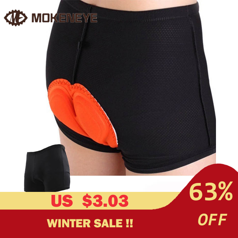 Bike Cycling Shorts Sponge Gel 3D Padded Black Comfortable Wear Resistant Riding Shorts Pants Underwear Size S-XXXL Underwear