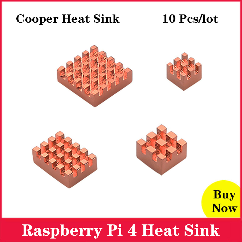 10 Pcs/lot <font><b>Raspberry</b></font> <font><b>Pi</b></font> <font><b>4</b></font> Heat Sink Cooper <font><b>Heatsink</b></font> Radiator for <font><b>Raspberry</b></font> <font><b>Pi</b></font> <font><b>4</b></font> <font><b>Model</b></font> <font><b>B</b></font> image