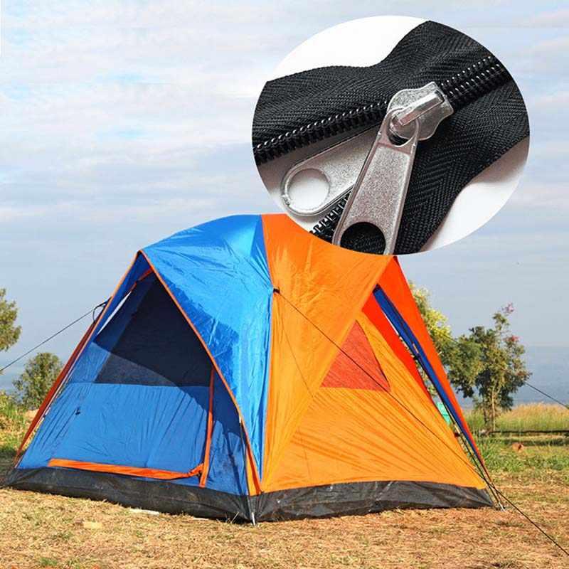 Zipper Reparação Substituição Kit + Zipper Puxa Zíper + Ferramentas de Instalação para Tendas Sacos de Bagagem Saco de Dormir Jaqueta Ao Ar Livre