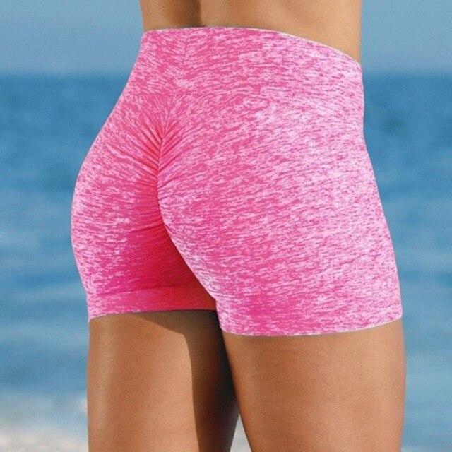 High Quality Breathable Women's High Waist Sports Short Workout Running Fitness Leggings Female Shorts Gym Leggings 5