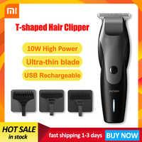 XIAOMI Mijia Männer ENCHEN USB Lade Haar Trimmer Bart Trimer Elektrische Rasierer Haar Schneiden Maschine T-Förmigen Kopf Haar clipper