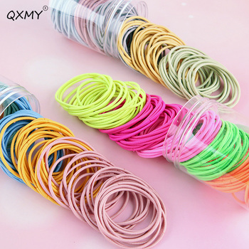 20/100pcs Girls Rubber Bands Scrunchy Elastic Hair Bands Ponytail Holder Kids Baby Hair Accessories Ties Nylon 100pcs bag colorful nylon hair gum ties girls ponytail holder rubber bands headband elastic hair bands fashion hair accessories