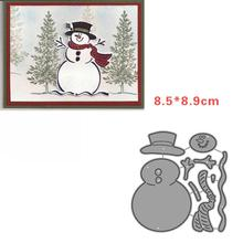 Naughty snowman snowflake metal cutting dies christmas New year Christmas Eve match decoration in scrapbooking 2019 Snow