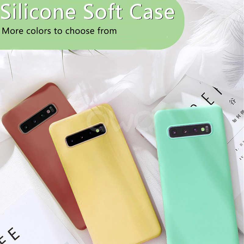 Liquid Silicone Ốp Lưng Điện Thoại Samsung Galaxy A50 A70 S8 S9 S10 Plus A40 A10 Bảo Vệ Trường Hợp Cho Samsung Note 9 8 10 Plus