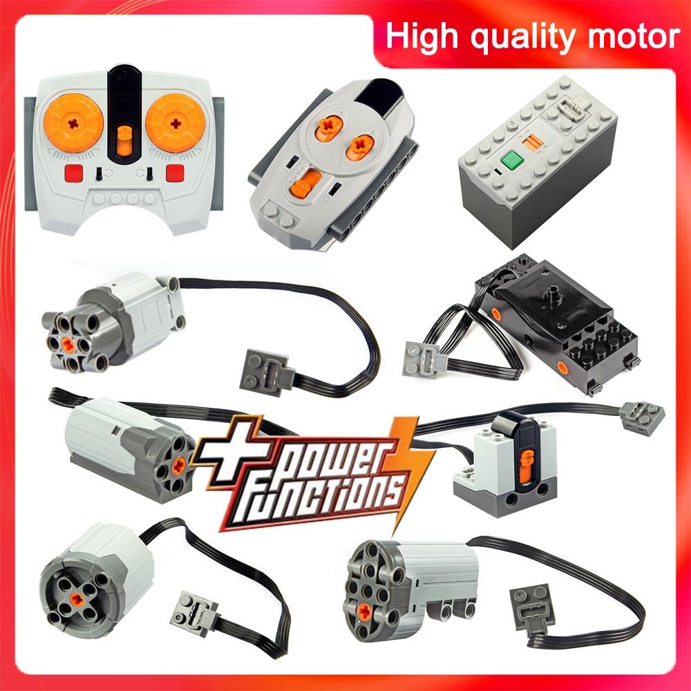 Technic Parts Compatible For LegoINGlys Multi Power Functions Tool Servo Blocks Train Engine Xl Motor PF Model Sets 88002