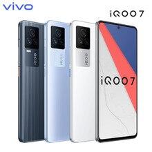 Original vivo iqoo 7 120w traço carregamento snapdragon 888 120hz 6.62 amoled 4000mah ufs 3.1 nfc 5g android telefone inteligente