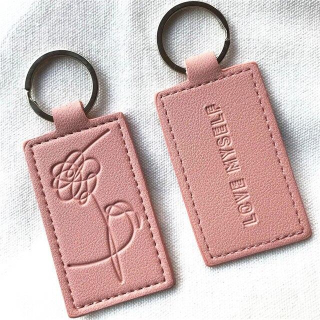 KPOP Keychain Pink Bangtan Boys Lanyard Love Myself Key Chains RAPMONSTER V JUNGKOOK JIMIN JHOPE RM Keyring Accessories 1