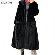 Winter Fur Jacket Plus size Clothing Women Parka Long Warm Fluffy Faux Fur Coat Hooded Outwear Korean Fashion Overcoat Female