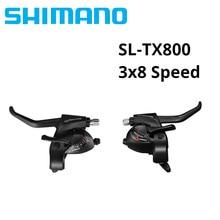 Shimano alavanca de câmbio tourney tx800, alavanca de ST-TX800 ef51 ef56 3x8 velocidades para mtb, mountain bike, 24 velocidades
