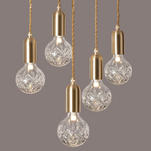 Postmodern Edison Decorative LED Light Bulb Creative Restaurant Bar Crystal Glass Ball Stair Lamps(China)