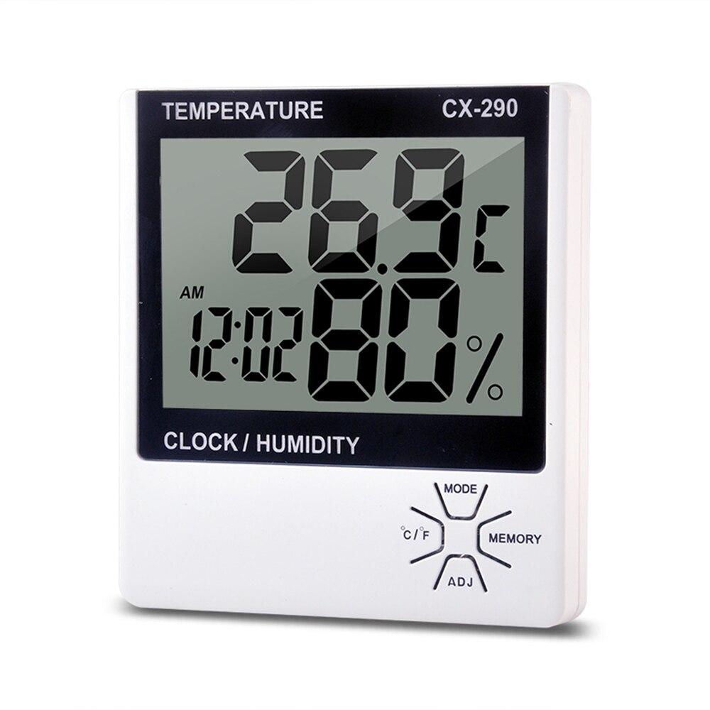 Цифровой термометр гигрометр для помещений, ЖК измеритель температуры, измеритель влажности, будильник, термо гигрометр, метеостанция|Приборы для измерения температуры|   | АлиЭкспресс
