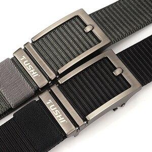Image 3 - Cinturón de nailon con hebilla automática para hombre, cinturón masculino de alta calidad, con hebilla automática, 2020
