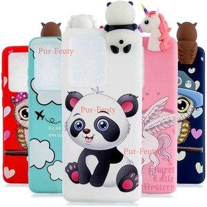 Чехол для телефона Samsung Galaxy S 20 Ultra S20 Plus, мягкий силиконовый чехол с 3d-рисунком панды и куклы для Samsung S20Ultra, ударопрочный чехол