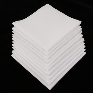 10pcs 100% Cotton White Handkerchiefs Square Super Soft Washable Hanky Chest Towel Pocket Square Hanky DIY Accessories 28x28cm