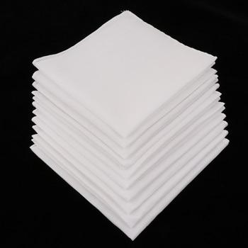 10pcs Mens White Handkerchiefs 100% Cotton Square Super Soft Washable Hanky Chest Towel Pocket Square 28 x 28cm hmily красный цвет вина 32cm x 28cm x 17cm