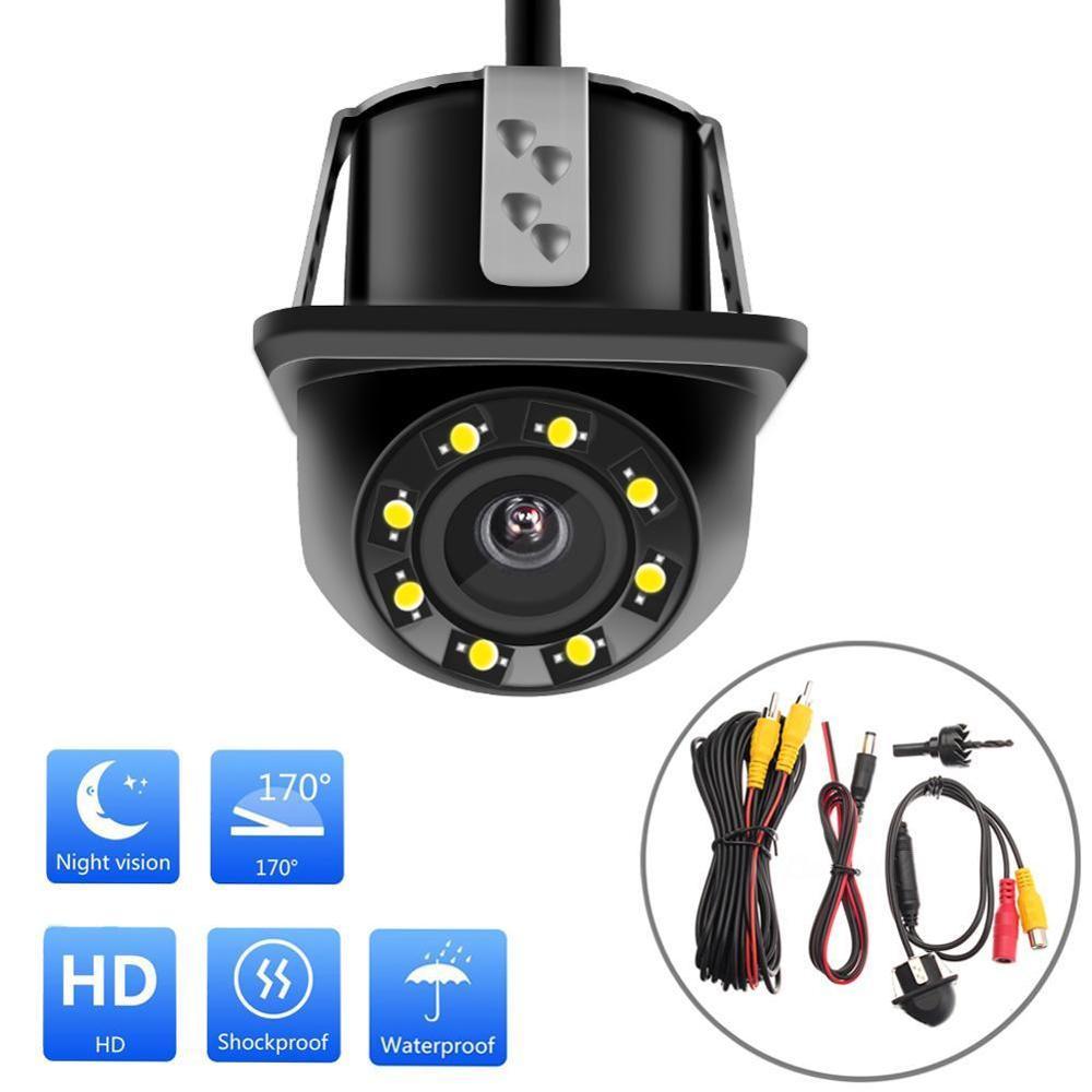 Verschiedene arten NEUE Auto Rückansicht Kamera 4 LED Nachtsicht Rückfahr Auto Parkplatz Monitor CCD Wasserdichte 170 Grad HD video