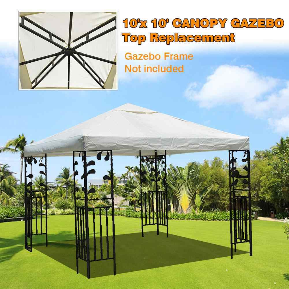 300x300cm 300d Canvas Camping Hiking Sun Shelter Outdoor Tent Canopy Top Roof Cover Patio Sun Shade Cloth Shade Shelter Replace Aliexpress
