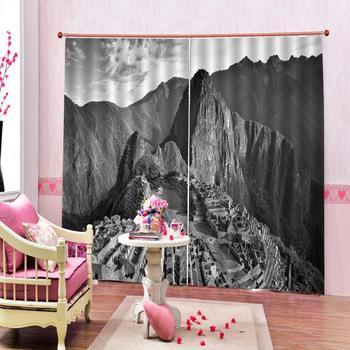 grey curtains 3D Blackout Curtains For Living room Bedding room Drapes Cotinas para sala