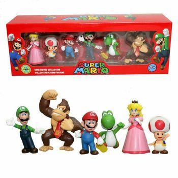 Figuras de acción de Super Mario Bros para niños y niñas, muñecos...