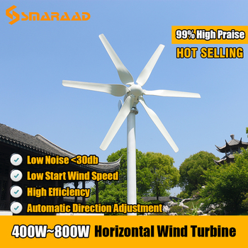 Free Energy 3/5/6 Blades Wind Turbine Generator 400w 600w 800w 12v 24v High Efficient For Home Yacht Farm Low Speed Start