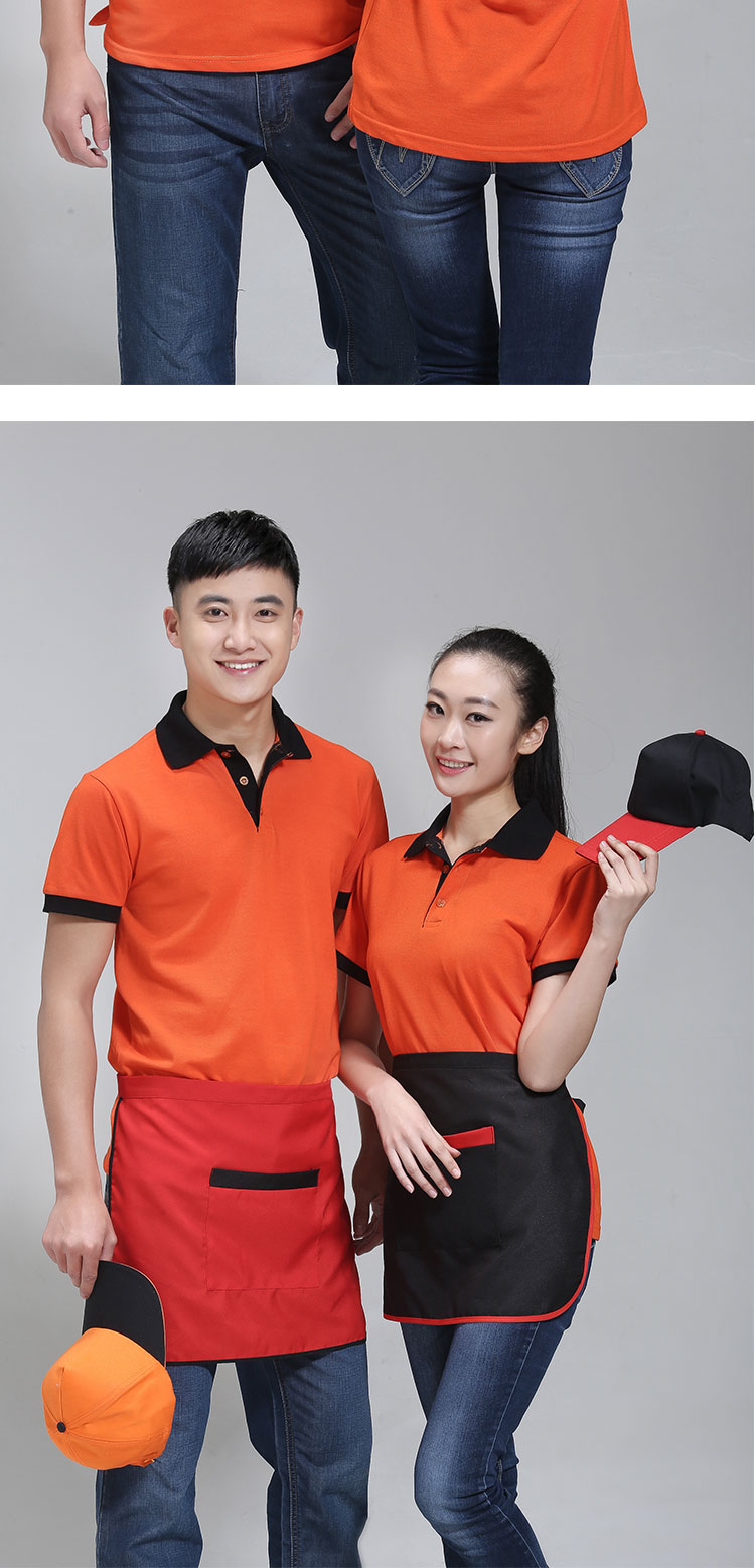 solid Polo shirt men's short-sleeved overalls  custom logo advertising shirt factory clothing printing embroidery word