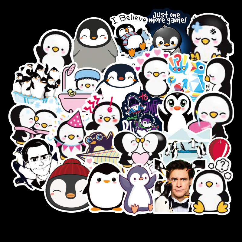 50pcs Series Cartoon Cute Penguin Stickers For Chidren Toy Waterproof Sticker Stickers To DIY Suitcase Laptop Bicycle Pegatinas