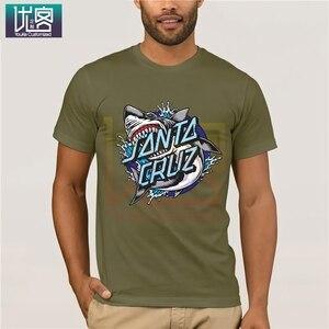 Футболка с изображением Санта акулы; Потрясающие уникальные Забавные футболки с короткими рукавами; хлопковые топы; футболка; популярная футболка с круглым вырезом; 100% хлопковые футболки Футболки      АлиЭкспресс