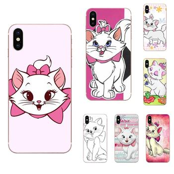 For Huawei P7 P8 P9 P10 P20 P30 Lite Mini Plus Pro 2017 2018 2019 Soft TPU Covers Cases Pink Marie Aristocats Printing Cartoon image