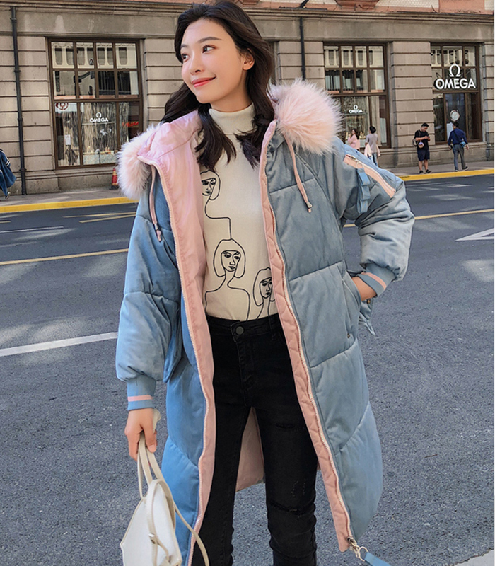 2019 High Quality Winter Jacket Women Velvet Fabric Hooded Thicken Fur_A6_7