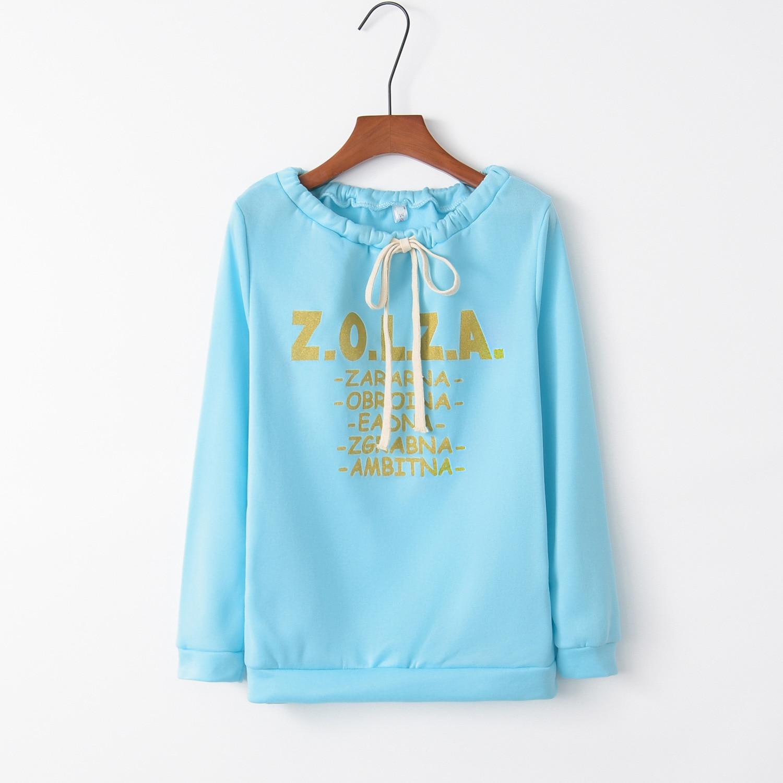 Sky Blue Gold Letter 2020 New Design Hot Sale Hoodies Sweatshirts Women Casual Kawaii Harajuku Sweat Girls European Tops Korean