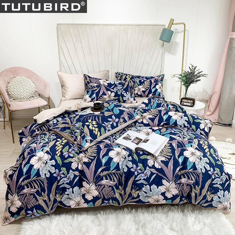 Luxury Blue Green /& Coral Tropical Plants Comforter Set AND Decorative Pillows