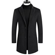 2019 autumn and winter new men's woolen coat large
