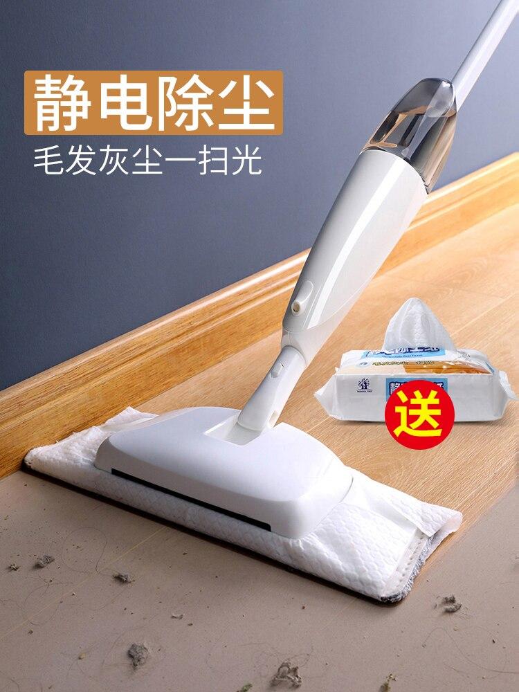 Швабра для распыления воды, ручная стирка, бесплатная доставка, домашние швабры для деревянного пола из микрофибры, плоская Швабра для мытья полов, для уборки дома - 5