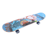 Skateboard Four Wheel Skate Board Kid Scooter Longboard Pulley Wheel Double Snubby Wood Skateboard Roller Board Flashing Roller