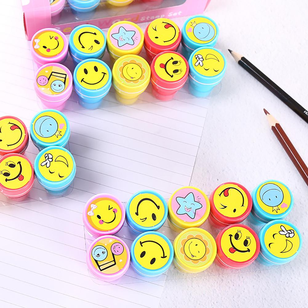 Children Toy Stamps Cartoon  Smile Face Expression Kids Seal For Scrapbooking Stamper DIY Painting Photo Album Decor
