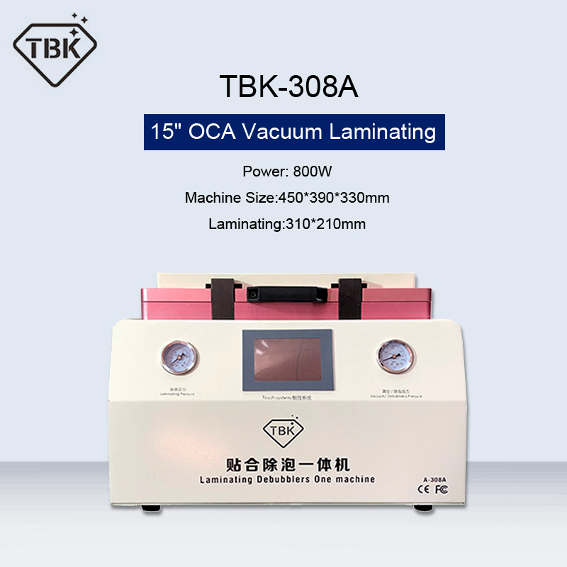 TBK 308A 15 Inch OCA Vacuum Laminating Machine Automatic Bubble Removing Machine For Phone LCD Touch Screen Repair Renovation Power Tool Sets    - title=