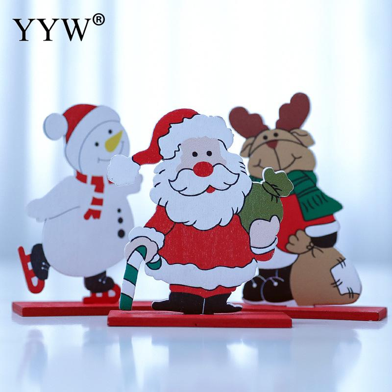 90x40x120mm Wooden Creative Table Decoration Home New Year Christmas Party Ornament Decor Happy Gifts Supplies