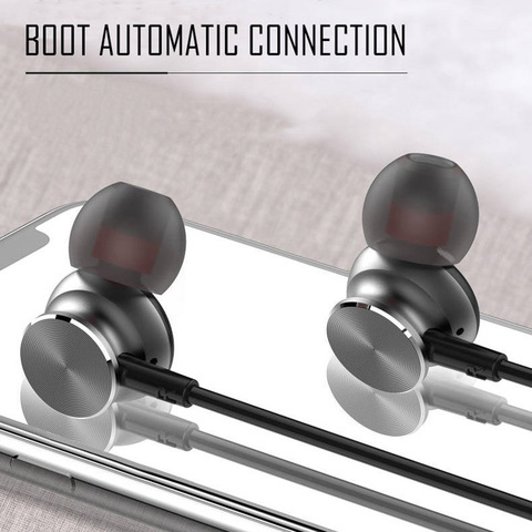 Neckband Bluetooth Headphones Stereo Headset Wireless Bluetooth Earphone Sports Earbuds With Mic for universal all mobile phones Multan