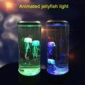 Светодиодный фантазия медузы лампа USB Мощность Батарея Мощность ed Цвет изменение Медузы аквариум светодиодный светильник расслабляющий на...