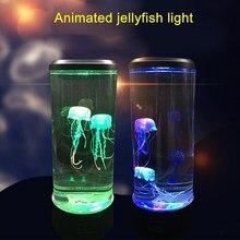 LED Fantaisie Méduses de Puissance D'USB de Lampe/Couleur À Piles Changeant Réservoir de Méduses Led Pour Aquarium Lampe Ambiance Relaxante Veilleuse