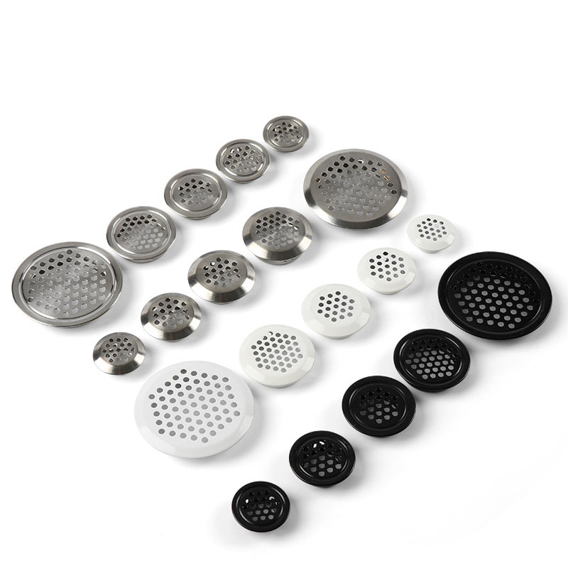 10PCS Stainless Steel Air Vent Wardrobe Cupboard Cabinet Decoration Round Respirator Ventilation System Mesh Hole Air Vent