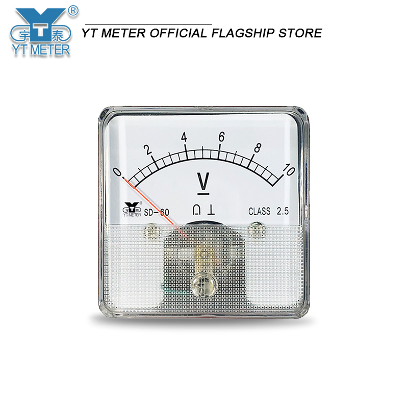 SD60 75мв DC Амперметр 10A 15A 20A 30A 50A 75A 100A 150A 200A 250A 300A указатель совпадающий шунт использует амперметр, размер 60*70 мм mechan
