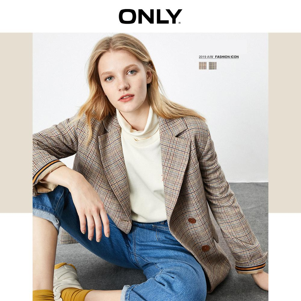 ONLY Women's Loose Fit Plaid Blazer   119308541