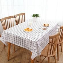 Table-Cloth Oil-Proof Rectangle Home-Decor PEVA Plaid 1pc Restaurant 3colors
