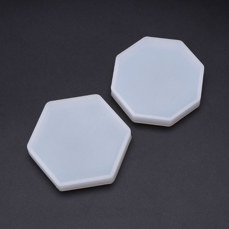 Silicone Silicone Mold Mirror DIY Epoxy Resin Crafts Jewelry Making Pendant Decoration Geometric Hexagonal Handmade Molds Cake