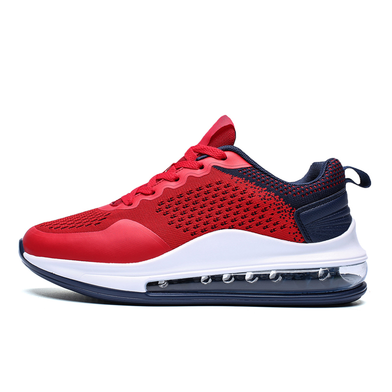 Mixed Colors Air Sole Running Shoes Women Men Max Size 36-46 Sneakers Non-slip Cushioning Sports Shoes Fashion Platform Sneakers