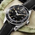Corgeut люксовый бренд Seepferdchen военные механические часы мужские автоматические спортивные дизайнерские часы кожаные механические наручные ч...