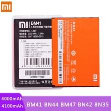 מקורי BM41 BN44 BM47 BN42 BN35 עבור Xiaomi Redmi 3 3S 3X 4 4X 1 1S 2 2A 5 בתוספת 5 בתוספת ליתיום פולימר Hongmi 1S סוללות